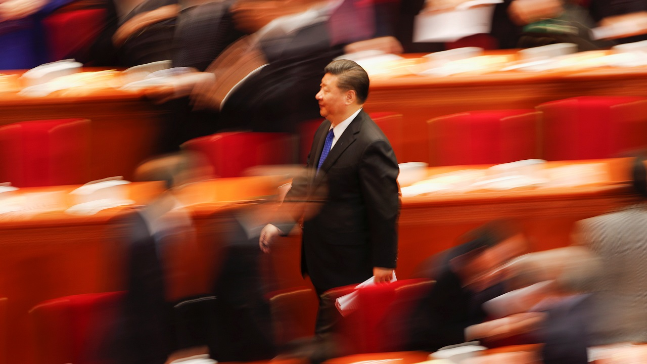 Chinese President Xi Jinping leaves after the opening session of the Chinese People's Political Consultative Conference (CPPCC) at the Great Hall of the People in Beijing, China. (Reuters)
