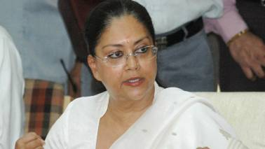 Congress a 'divided house', BJP sure to win state polls: Vasundhara Raje