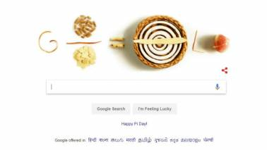 Google celebrates Pi day with doodle