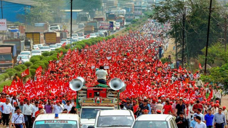 Farmers' march to reach Mumbai on Monday