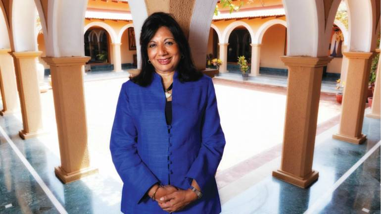 Kiran Shaw, Kannada Development Authority in war of words