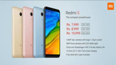 Redmi 5 to go on sale on March 20 - Check out prices and specifications