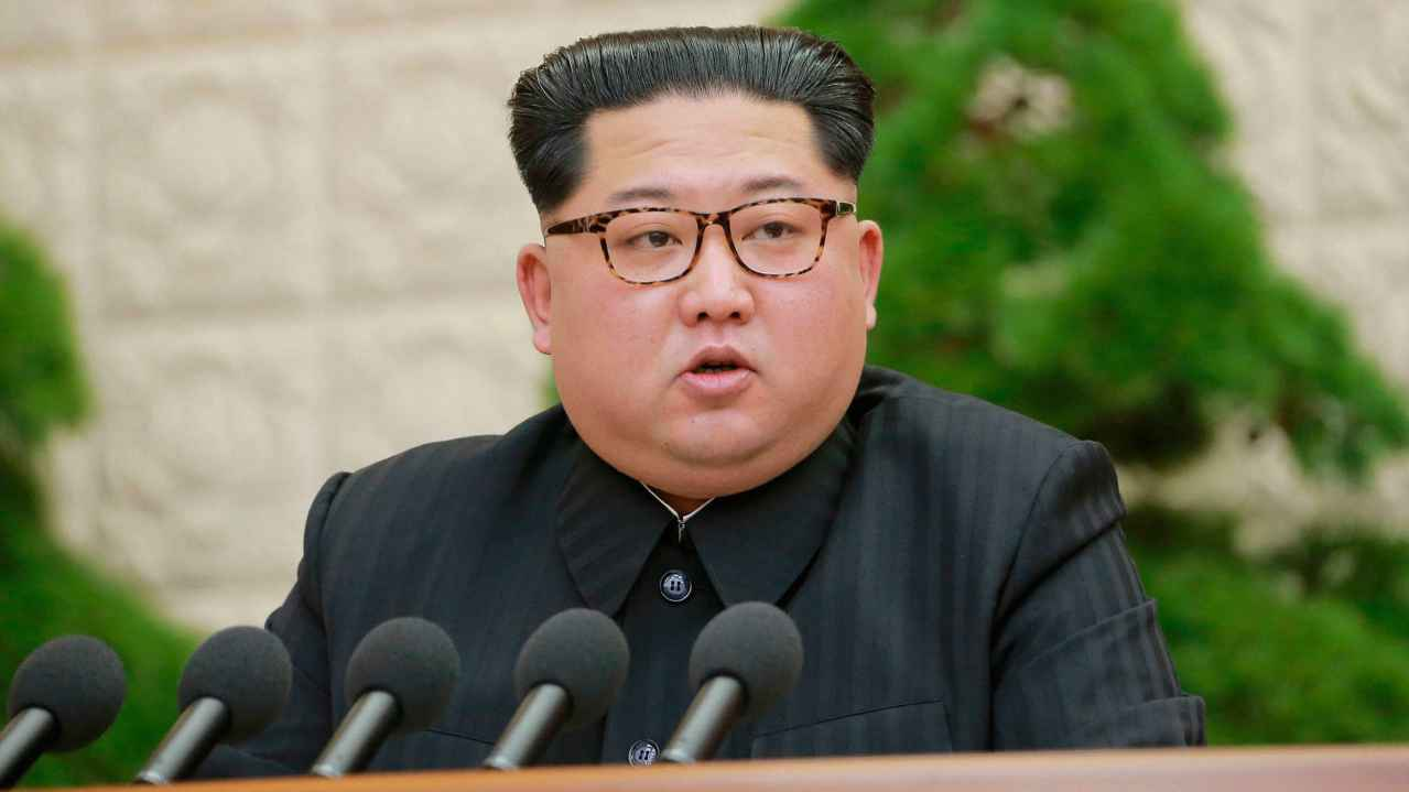 North Korean leader Kim Jong Un speaks during a meeting of the Central Committee of the Workers' Party of Korea, in Pyongyang, North Korea. North Korea said it has suspended nuclear and long-range missile tests and plans to close its nuclear test site ahead of a new round of negotiations with South Korea and the United States. (AP/PTI)