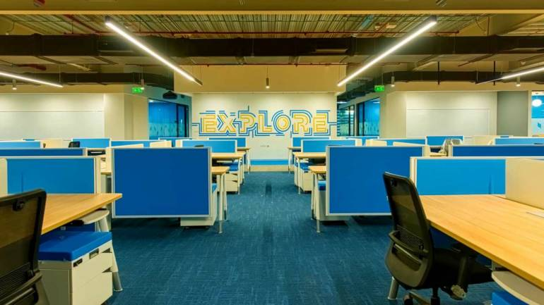 The office has total 30 floors spanning multiple buildings and has a capacity to house 7,400 employees which Flipkart says is enough for them. The buildings are connected by nine bridges.