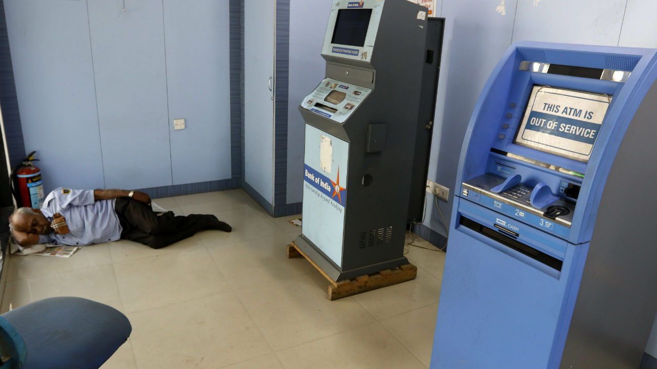 Q11. There are ATMs whose hardware and the lease of the ATM machine is owned by a service provider but cash management and connectivity to banking networks is provided by a sponsor bank whose brand is used on the ATM. What are these called? (Image: Reuters)