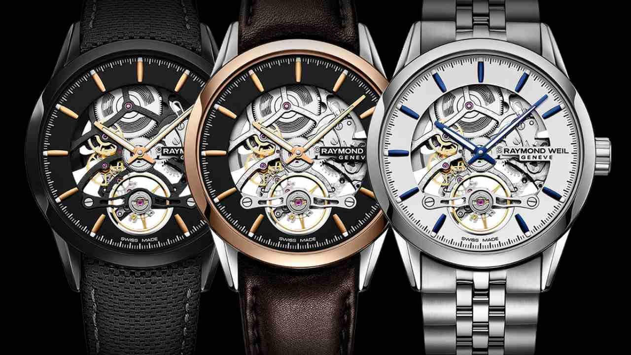Raymond Weil Freelancer RW1212 Skeleton | Cost - Rs 2,09,795 | An independently-run Swiss watch manufacturer, Raymond Weil launched this last year, and was on display at Baselworld 2018. Offering a 38-hour power reserve, this watch comes in various versions. (Image: www.ethoswatches.com)