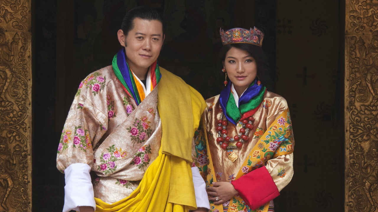 The King and Queen of Bhutan | Jetsun Pema was 21 years old when she married the 31-year-old king of Bhutan Jigme Khesar Namgyel Wangchuck. Pema is seen as a style icon across much of Asia. The royal couple welcomed their first son in February 2016. (Image: Reuters)