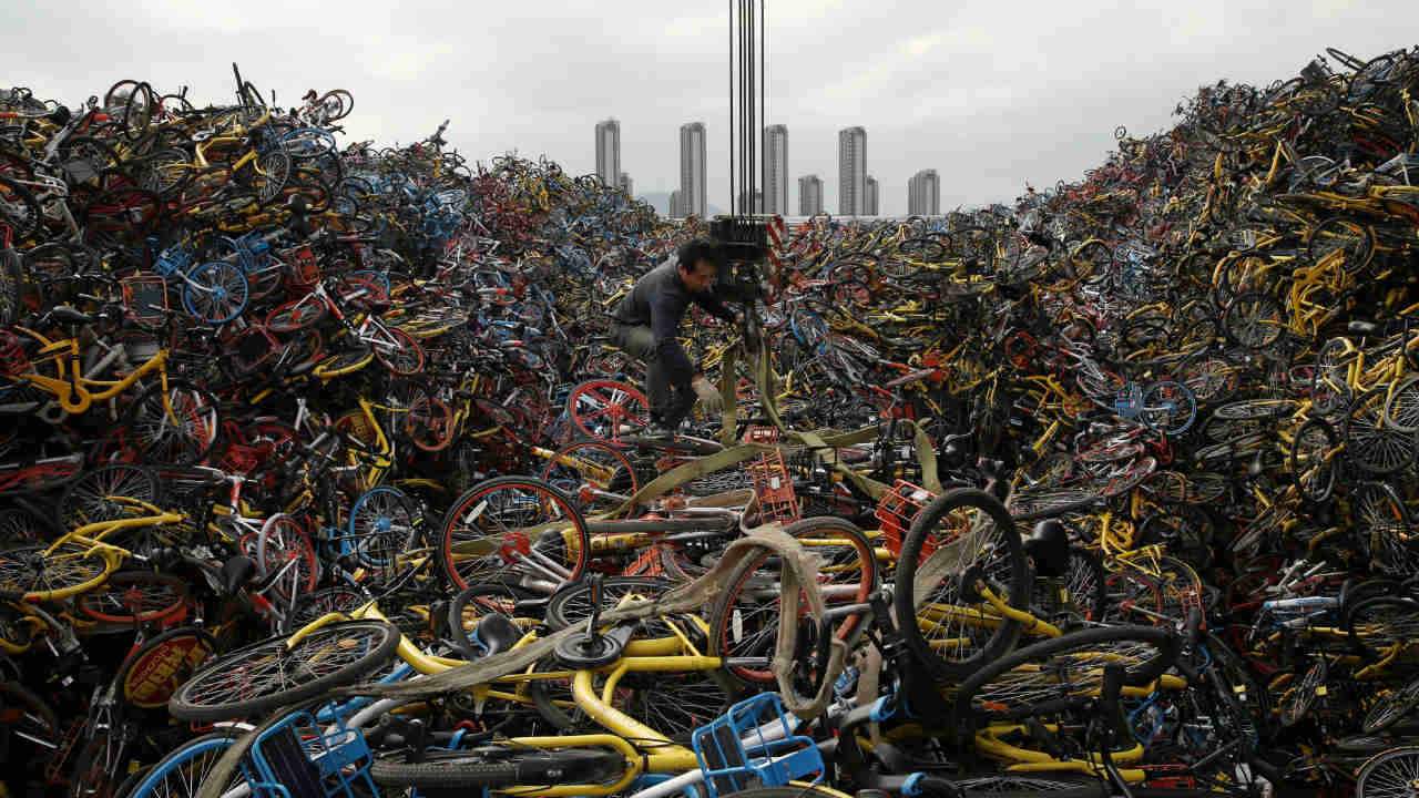 In megacities such as Beijing, millions of these bikes are said to trundle along the streets. (Photo: Reuters)