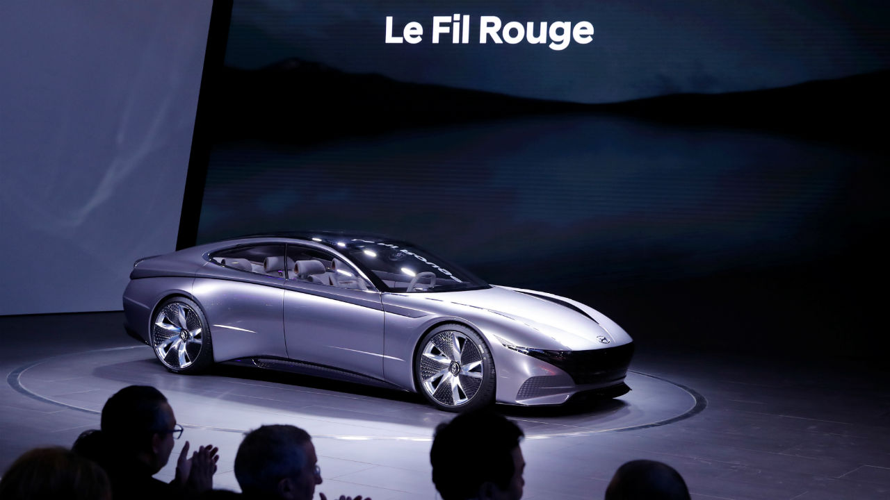Hyundai Le Fil Rouge | The term 'Le Fil Rouge' translates to 'common thread' in French. The South Korean car maker has given this concept car a 'Cascading Grille'. (Image: Reuters)