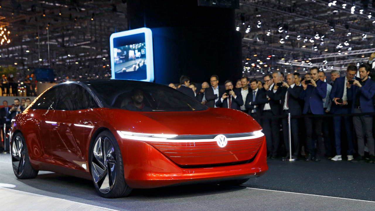 I.D. Vizzion by Volkswagen | The fully-electric version of this car is set to hit roads by 2022 and is expected to have an approximate range of 640 kilometres. (Image: Reuters)