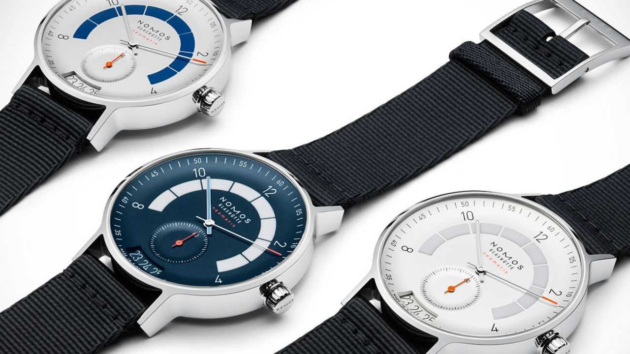 Nomos Glashutte Autobahn | Cost - Rs 3,12,216 | German watchmaker Nomos Glashutte launched this collection, inspired by race tracks and automotive analogue dash counters. It is available in three dial colours. (Image: www.ethoswatches.com)