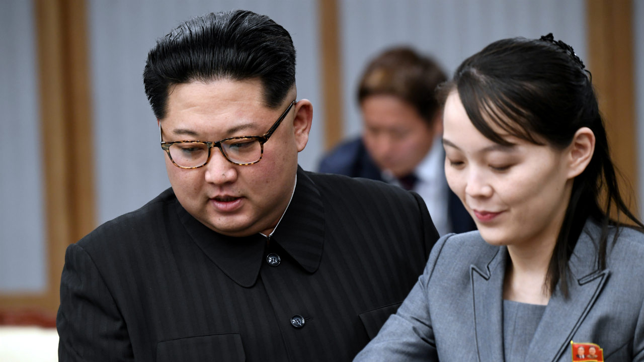 Kim along with his sister Kim Yo-jong attend a meeting with Moon (not pictured) at the Peace House. (Image: Reuters)