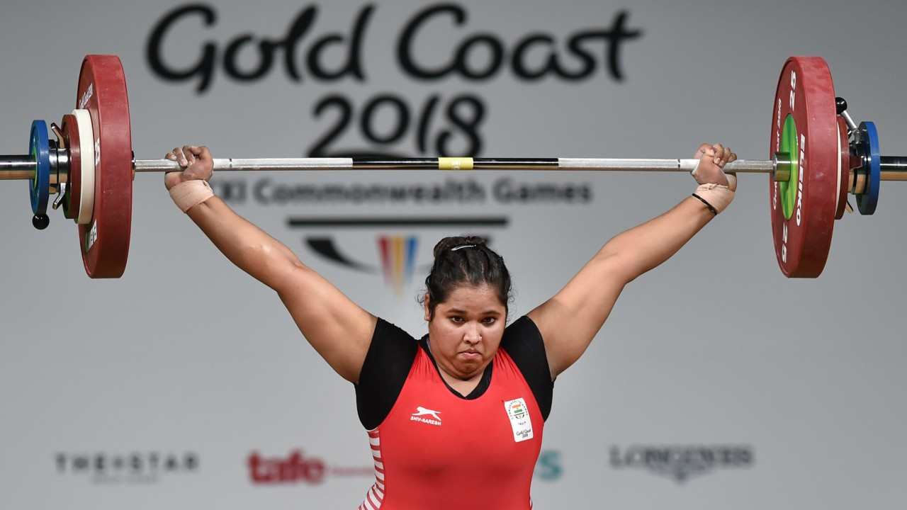 Indian weightlifter Purnima Pandey competes in the women's +90 kg category during the Commonwealth Games 2018 at Gold Coast. (Image: PTI)