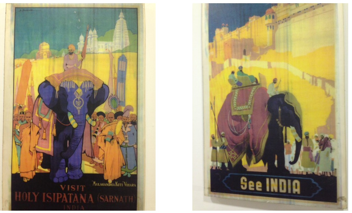 Identify the organisation which used these pictures to promote Indian Tourism?