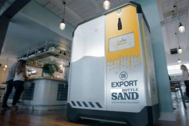 Q7. This is an environmentally friendly campaign designed by DB Exports of New Zealand to encourage the recycling of bottles. The recycled product is sand which are then sold to construction companies. This is done to save the beaches of New Zealand. What are the bottles used for?