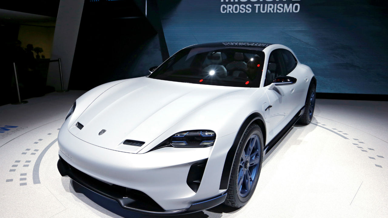 Porsche Mission E Cross Turismo | The new concept is a rugged SUV that does not look like a traditional SUV. The vehicle is a potential electric crossover version of Porsche's original Mission E concept introduced three years ago. (Image: Reuters)