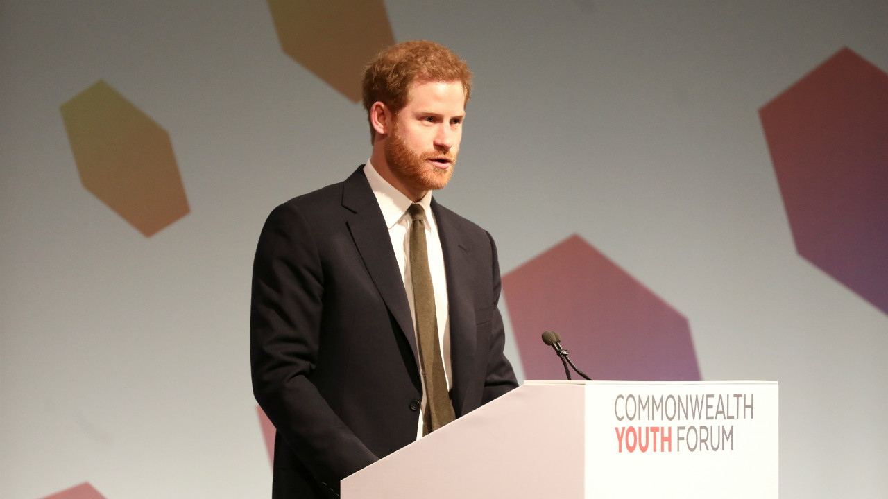 Britain's Prince Harry attends a Commonwealth Heads of Government Meeting Youth Forum in London. (Photo: Reuters)