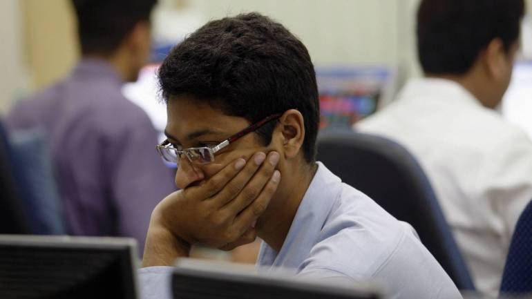 Sensex falls over 70 points, Nifty comes below 10700