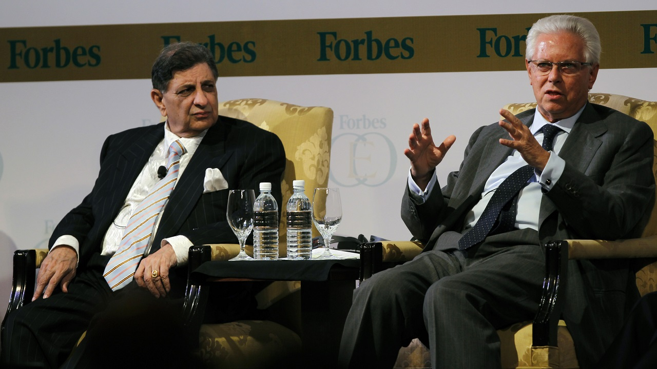Cyrus Poonawalla (left in the image), Founder of Serum Institute of India: USD 9.1 billion | In 1966, Poonawalla founded the vaccine manufacturer and has since turned it into one of the world's largest. He is also known for interests in horse racing and his car collection. (Image: Reuters)