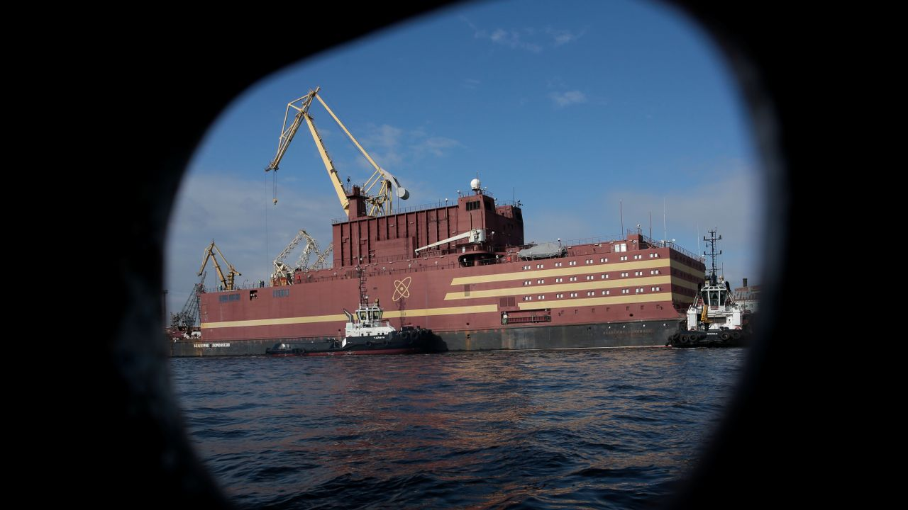 """A Russia-made floating nuclear power plant called Akademik Lomonosov commenced its maiden voyage. The controversial vessel is built by Russia and environmentalist have dubbed it """"nuclear Titanic"""". (Image: Reuters)"""