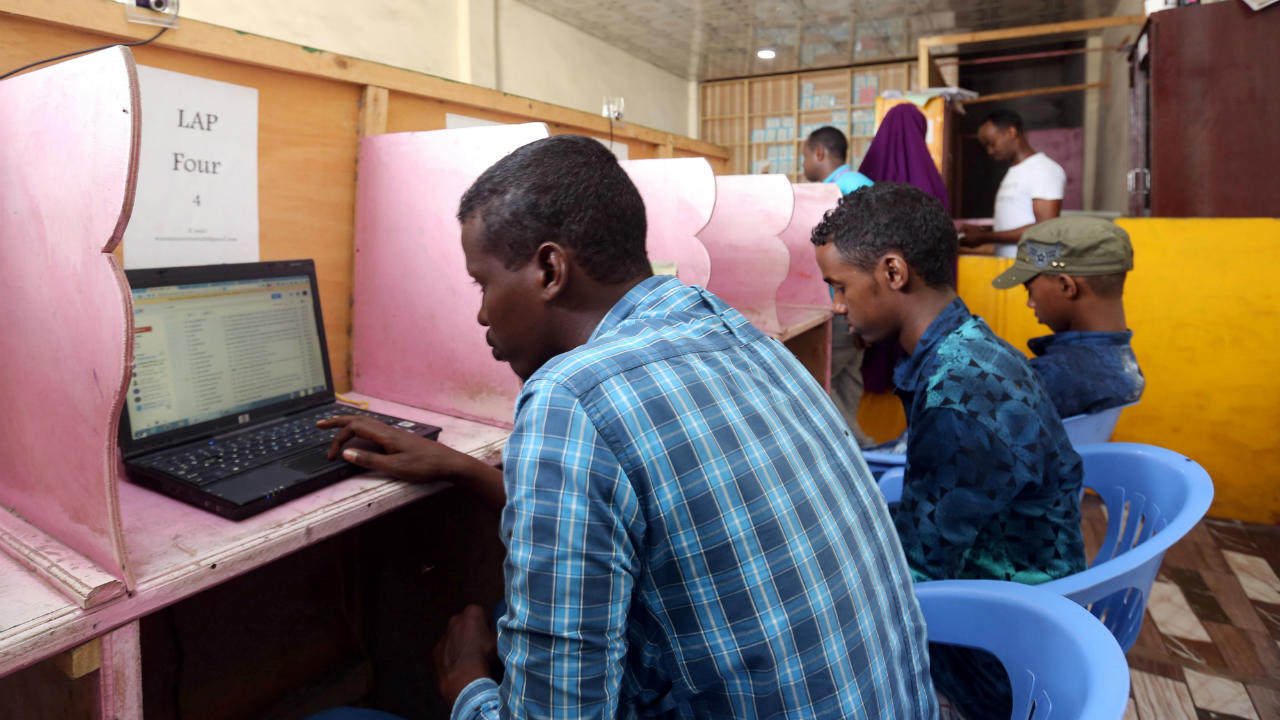 Answer: Cyber Café (Image: Reuters)