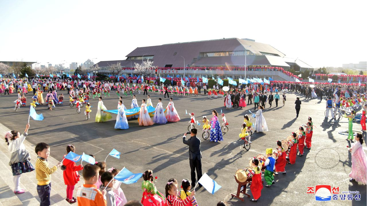 People are seen during a cultural festival for celebrating the Day of the Sun, the birth anniversary of the founder Kim Il-sung, in Pyongyang in this undated photo released on April 12, 2018 by North Korea's Korean Central News Agency (KCNA) in Pyongyang. (Image: KCNA/via Reuters)