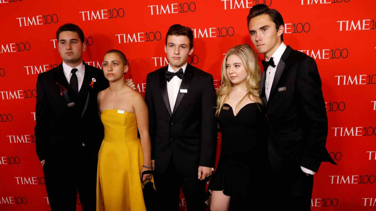 Parkland high school student activists arrive for the TIME 100 Gala in Manhattan. (Reuters)