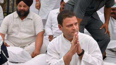Rahul meets rice innovator's kin, apologises for nation's 'apathy' to his achievements