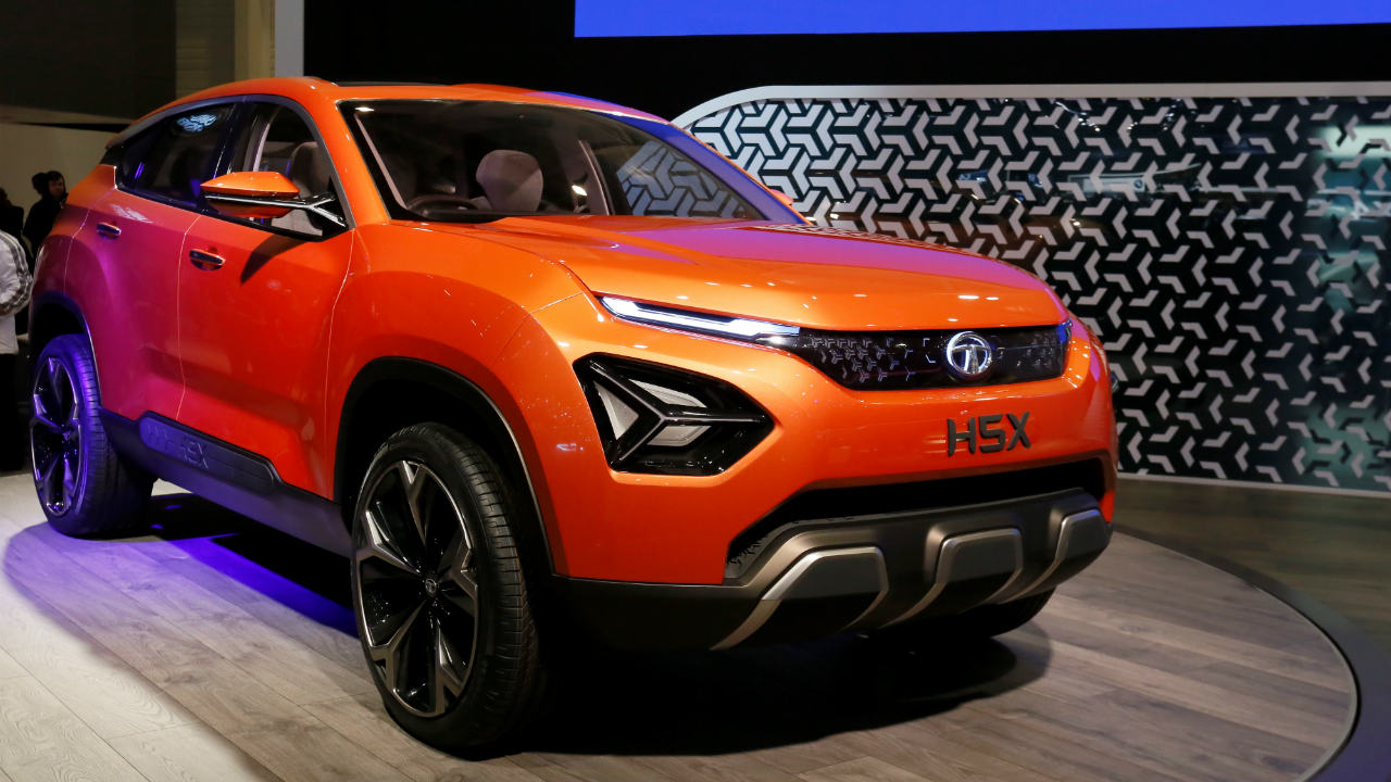Tata H5X | The Indian auto manufacturer showcased the H5X SUV concept at the Motor Show. Tata had earlier unveiled the car at the Auto Expo 2018. It will be the first Tata product to carry the new 'Impact Design 2.0' design language. (Image: Reuters)