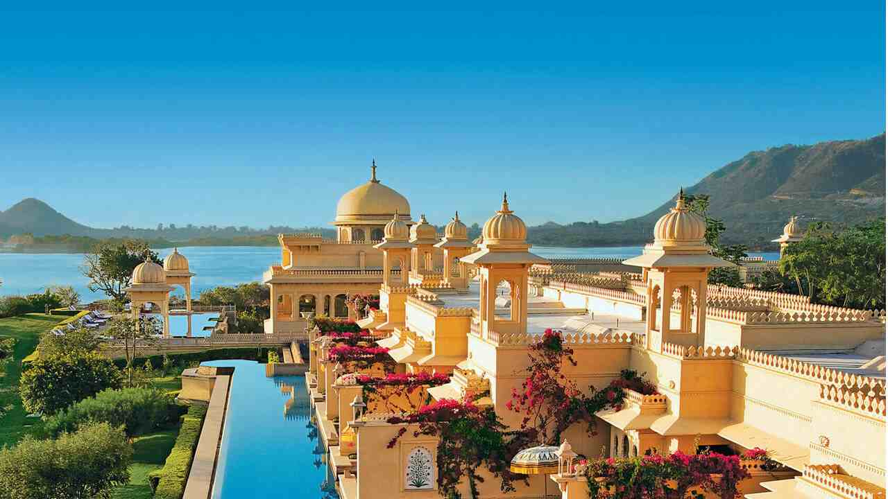 The Oberoi Udaivilas | Remember the grand wedding of Kalki Koechlin in Yeh Jawaani Hai Deewani? This is the hotel where the whole procession was shot in Udaipur. One of the gems of the Oberoi group, it is ranked seventh according to travellers' reviews. Located on the bank of Lake Pichola and spread over 50 acres, the hotel offers all amenities one would expect from a five-star hotel.