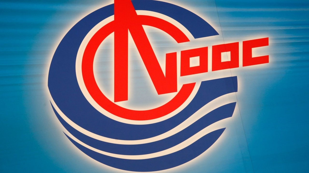Hong Kong | Cost per litre – Rs 160.39 | The logo of the state-run China National Offshore Oil Corporation. (Image: Reuters)