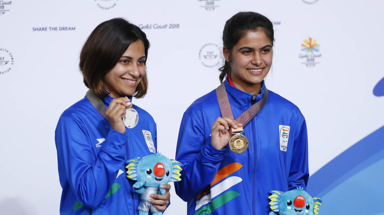 Manu Bhaker | The 16-year-old sensation from Haryana defeated her senior teammate and World Champion Heena Sidhu to bag the yellow metal in the 10m air pistol event. Bhaker smashed the Games record and claimed the top position on the podium with a mark of 240.9.