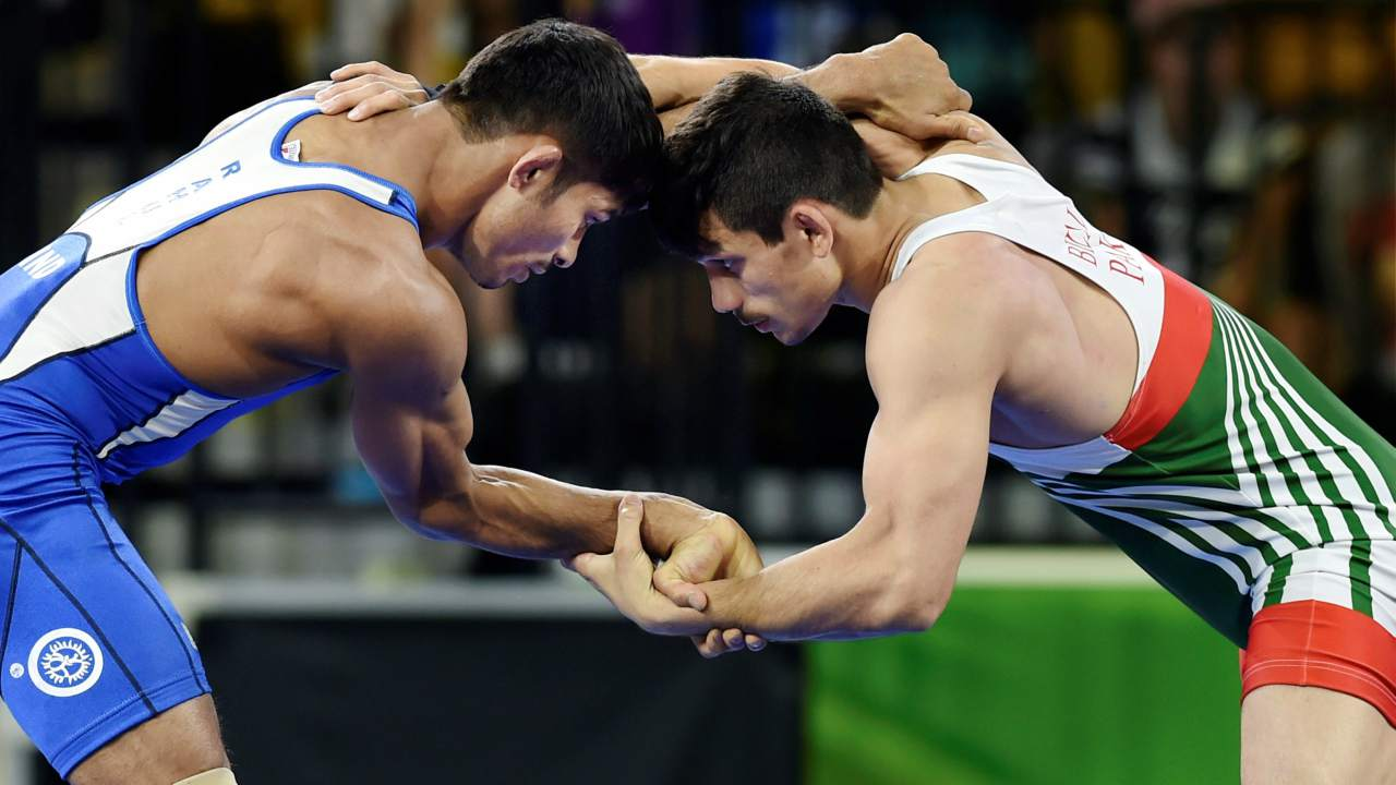 Rahul Aware   Wrestler Rahul Aware clinched 13th gold for India participating in the Freestyle 57kg category. The 26-year-old grappler from Maharashtra defeated Canada's Steven Takahashi with a score 15-7. Aware scored six technical points in the first period and nine in the second, against Takahashi's four and three, respectively.