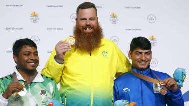 Indian shooter Om Mitharval wins his second bronze, earns podium in 50m pistol