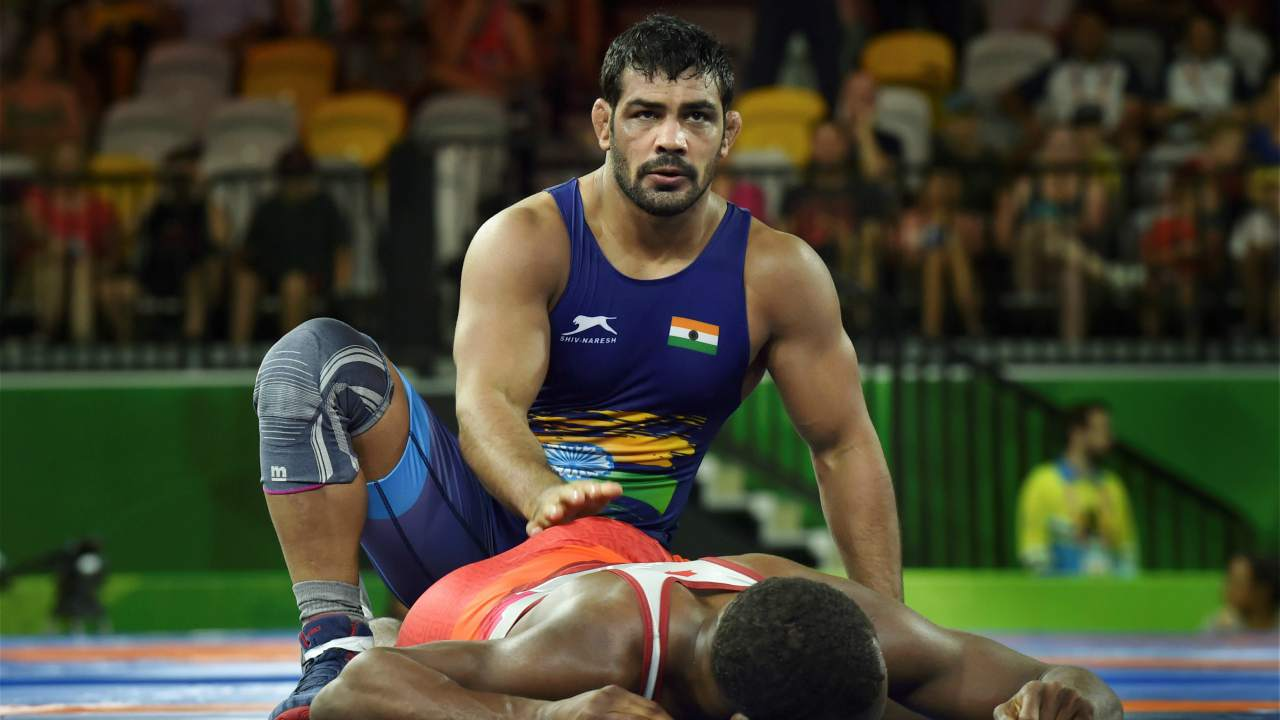 Sushil Kumar | Minutes after Aware, the twice Olympic medallist grappler added another feather in his cap and a gold medal for India by defeating South Africa's Johannes Botha in Freestyle 74kg category. Kumar outclassed Botha in the first round 10-0 and was awarded the victory on his technical superiority over his opponent.