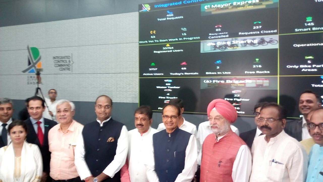 Puri also launched the country's first integrated control and command centre for seven cities of Madhya Pradesh set up in Bhopal. There are a number of functions and systems that shall be managed out of the Command Center Application. Systems and functions can be monitored from one place and it will also have the option of sharing a feed to another agency as required via the platform.