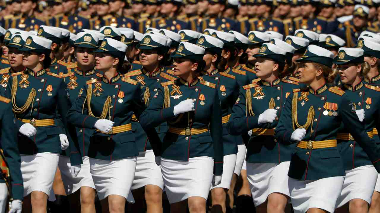 Victory Day is celebrated every year on May 9 over a large part of Europe and Asia which include Russia and former USSR countries. (In picture: Russian servicewomen march during the Victory Day parade at Red Square in Moscow)