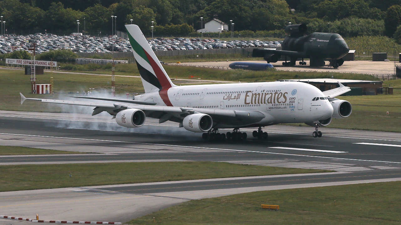 Dubai-based Emirates has the largest fleet of Airbus A380s, which is the world's largest passenger airline. The carrier has 100 A380s aircraft. (Image: Reuters)