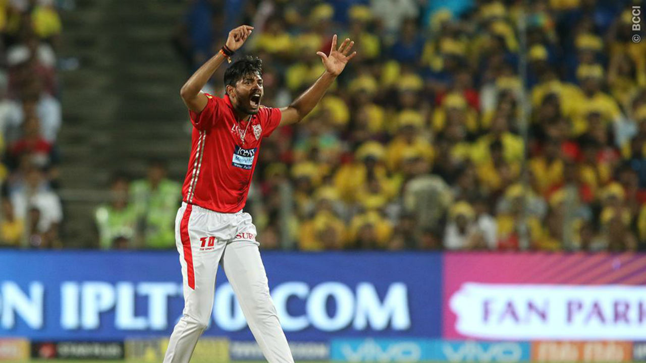 Ankit Rajpoot recorded the best bowling spell of this season's IPL. He tore through the Sunrisers Hyderabad batting lineup picking up five wickets and giving away just 14 runs in his quota of four overs. His economy of 4.80 was simply stunning for a game of T20 cricket.  (Image- BCCI, IPLT20.com)