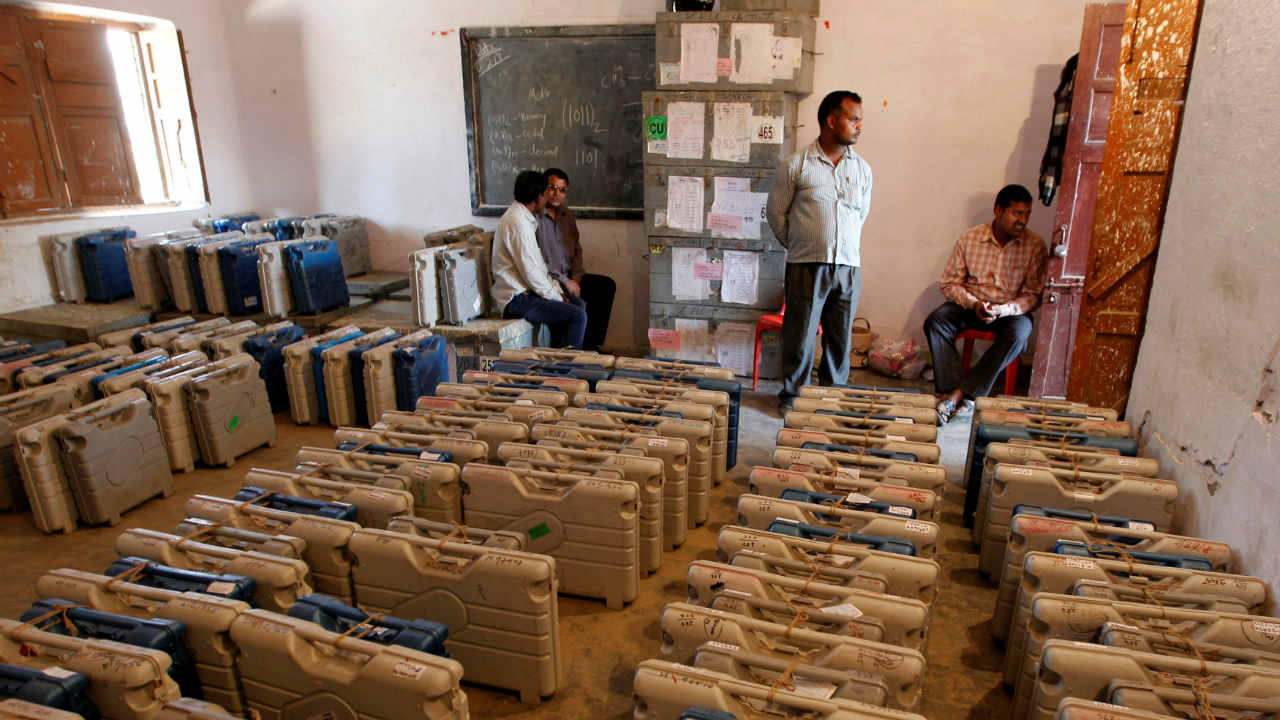 Counting of votes of the Karnataka assembly polls commenced early on May 15 and the BJP, Congress and JD(S) waited for initial figures with bated breath. (Image: PTI)