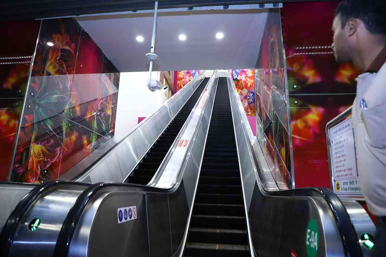 The tallest escalator | 15.6 metres is the height of the escalators at Janakpuri West metro station, the tallest in the country