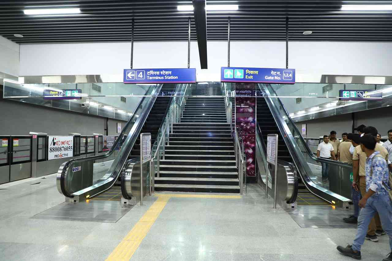 Gurgaon to Noida commute becomes easier | Hauz Khas interchange station will help commuters from Gurgaon to reach Noida within 50 minutes instead of around 2 hours. Domestic flyers can use Delhi Metro to reach Terminal 1.