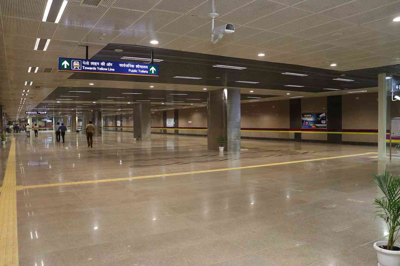 The deepest station | The Hauz Khas station is the deepest on the Delhi Metro Network at 29 metres.