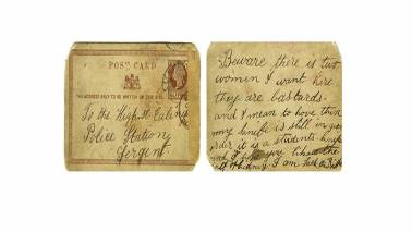 Terrifying postcard by serial killer Jack the Ripper fetches over Rs 25 lakh at auction