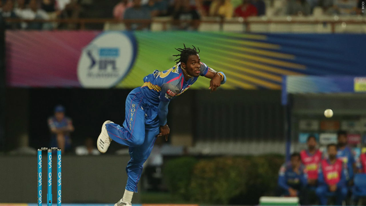Caribbean speedster Jofra Archer bowled the fastest ball of IPL 2018, a stunning 152.39 km/h Jaffa. Although he debuted late due to an injury, he ended the season as Rajasthan's highest wicket taker with 15 wickets from 10 games.  (Image- BCCI, IPLT20.com)