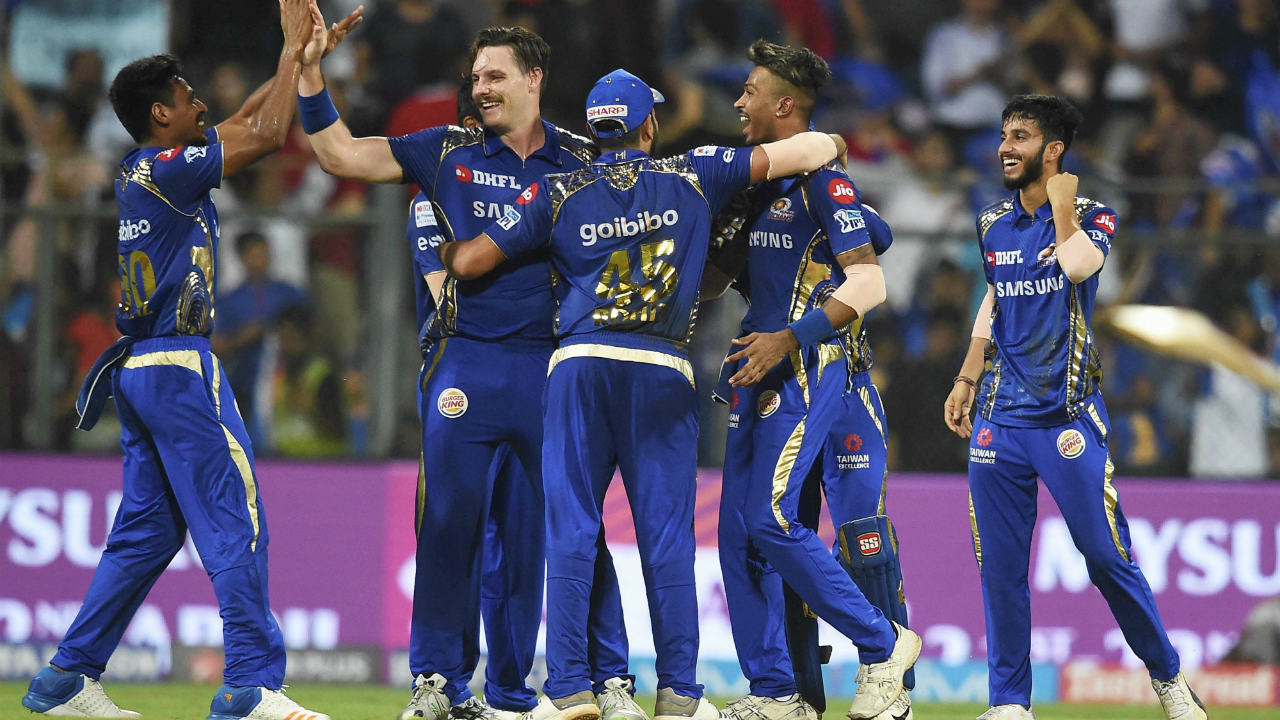 The biggest win of the season while batting first goes to the Mumbai Indians for their 102-run victory against Kolkata Knight Riders. Mumbai posted a mammoth total of 210/6 for Kolkata to chase before bowling out the home team for just 108 runs.