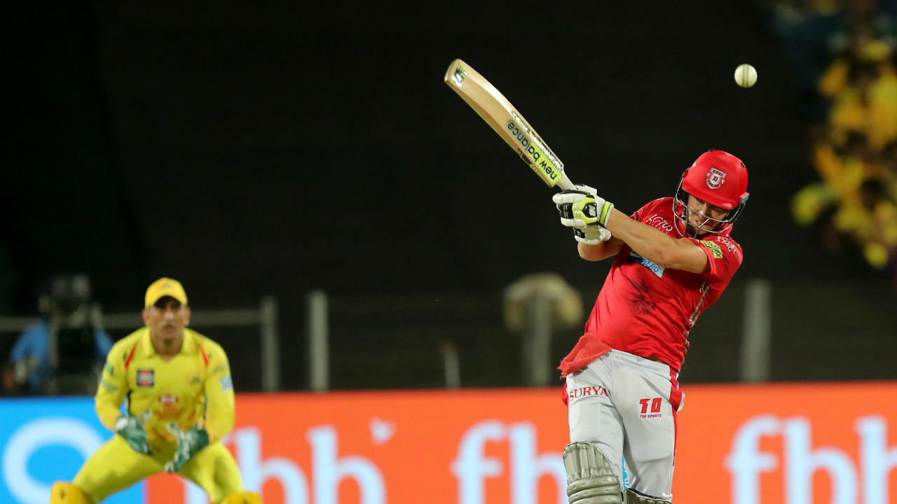 David Miller of the Kings XI Punjab during match fifty six of the Vivo Indian Premier League 2018 (IPL 2018) between the Chennai Super Kings and the Kings XI Punjab held at the Maharashtra Cricket Association Cricket Stadium, Pune (PTI)