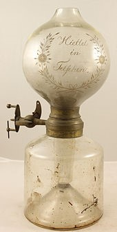 The picture shows Döbereiner's lamp. It was first of its kind when introduced. What was it used for?