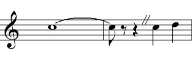Q18: A caesura is a musical notation that is believed to have made its way into the world of technology. Which symbol?