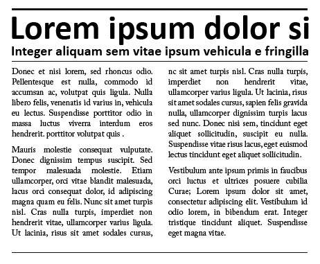 Answer: Lorem ipsum. A filler text commonly used to demonstrate the graphic elements of a document or visual presentation. The lorem ipsum text is typically a scrambled section of De finibus bonorum et malorum, derived from sections 1.10.32–3. Today's popular version of Lorem ipsum was first created in the mid-1980s for Aldus Corporation's desktop publishing program PageMaker for the Apple Macintosh.